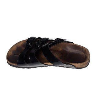Birkenstock Shoes - Birkenstock Birki's Black Patent Leather Sandals